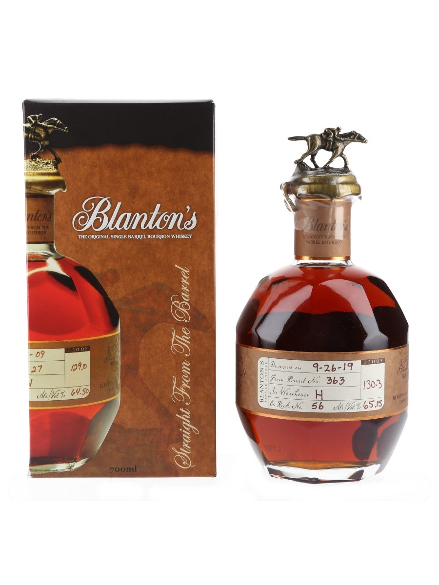 Blanton's Straight From The Barrel No. 363 Bottled 2019 - Bottle Number 2 70cl / 65.15%