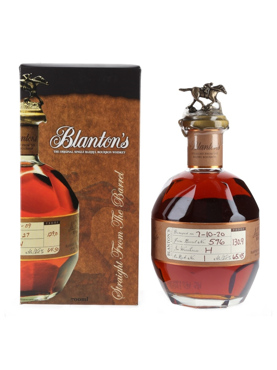 Blanton's Straight From The Barrel No. 596 Bottled 2020 70cl / 65.45%