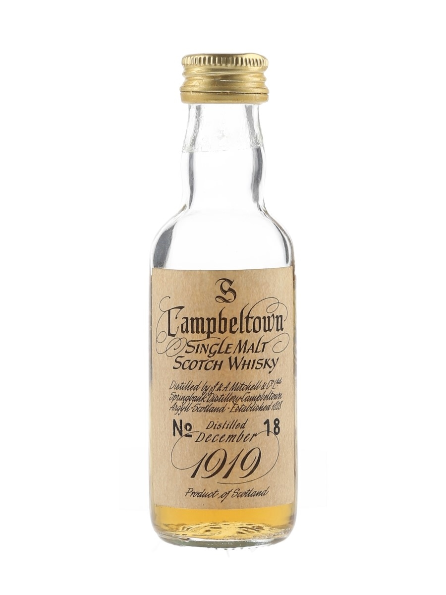 Springbank 1919 50 Year Old  5cl
