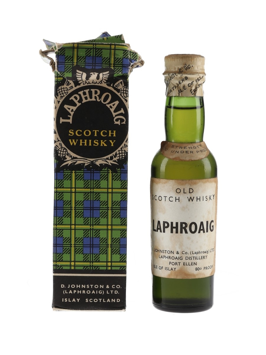 Laphroaig Old Scotch Whisky Bottled 1950s 5cl / 46%
