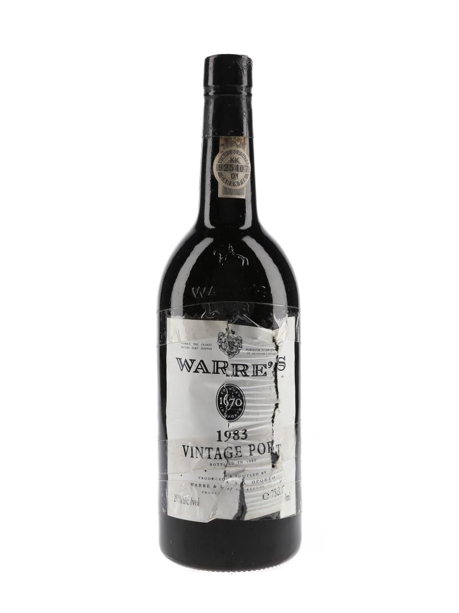 Warre's 1983 Vintage Port Bottled 1985 75cl / 20%