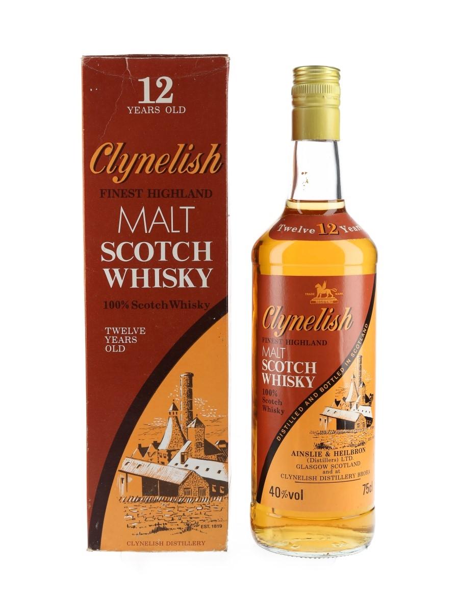Clynelish 12 Year Old Bottled 1980s - Ainslie & Heilbron 75cl / 40%