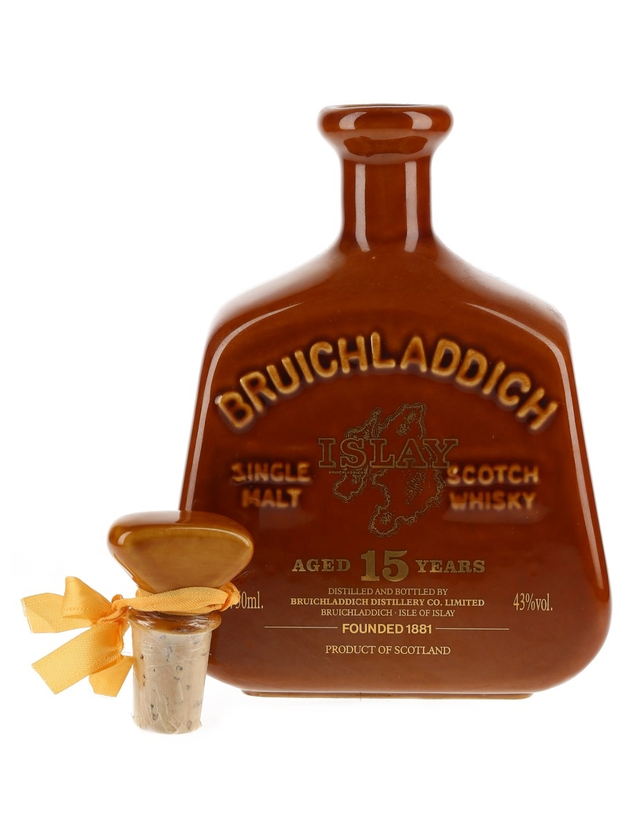 Bruichladdich 15 Year Old Bottled 1980s - Ceramic Decanter 75cl / 43%