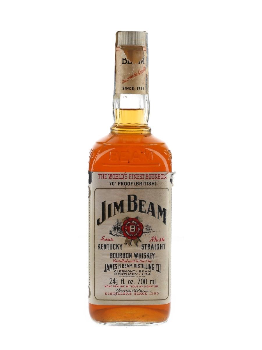 Jim Beam White Label Bottled 1970s 70cl / 40%
