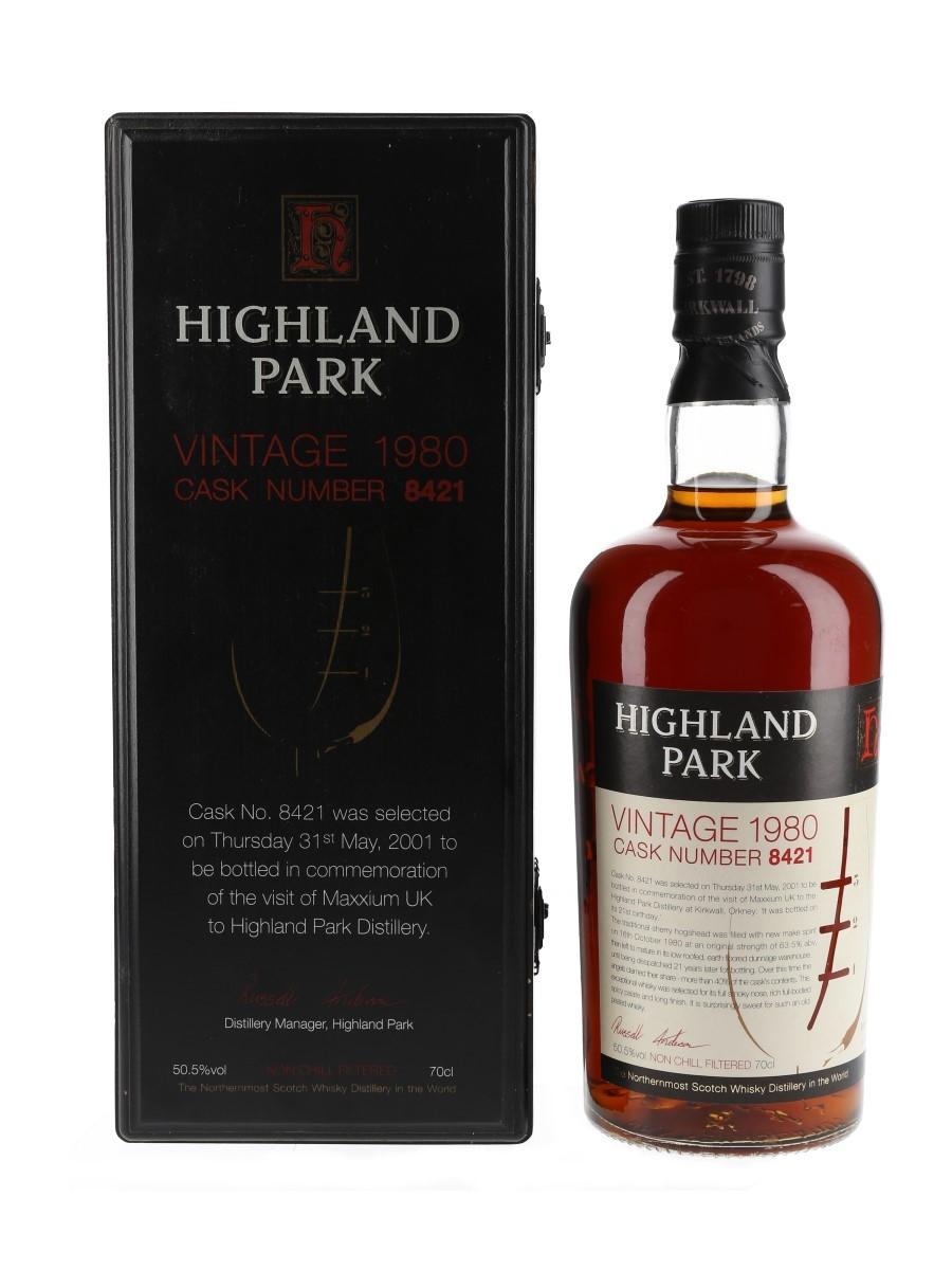 Highland Park 1980 21 Year Old Cask Number 8421 70cl / 50.5%