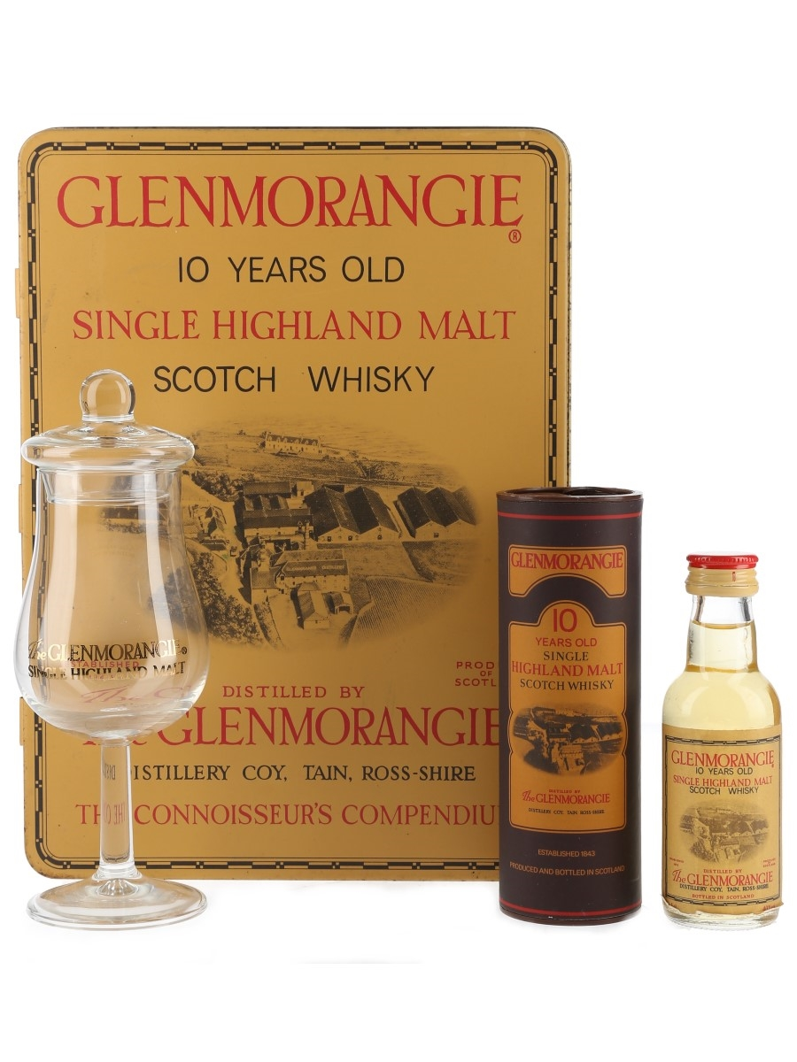 Glenmorangie 10 Year Old Gift Tin With Nosing Glass 5cl / 40%