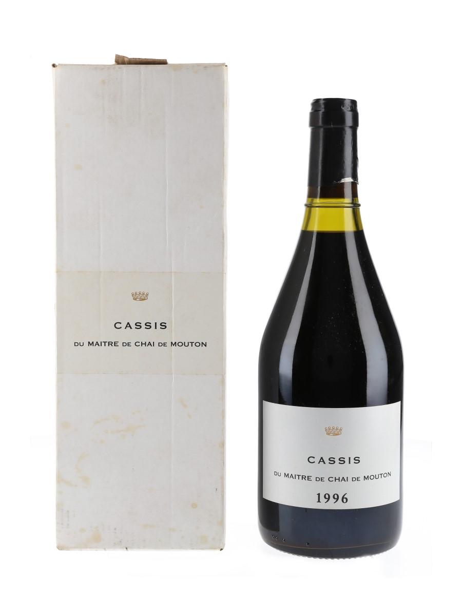 Cassis Du Maître De Chai De Mouton 1996  75cl