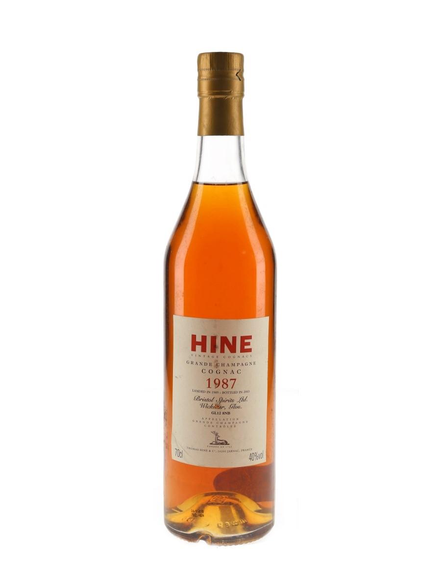 Hine 1987 Landed 1989, Bottled 2003 - Bristol Spirits Ltd. 70cl / 40%