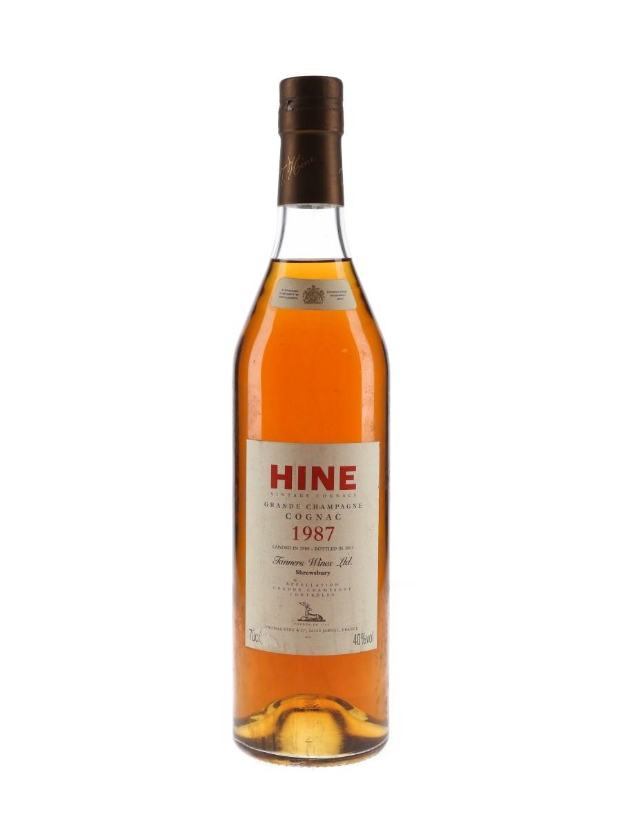 Hine 1987 Landed 1989, Bottled 2003 - Tanners Wines Ltd. 70cl / 40%