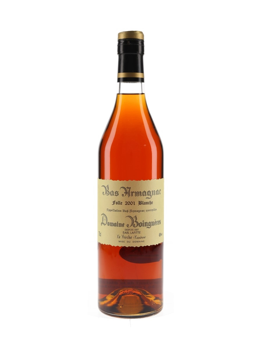 Domaine Boingneres 2001 Bas Armagnac Folle Blanche 70cl / 49%