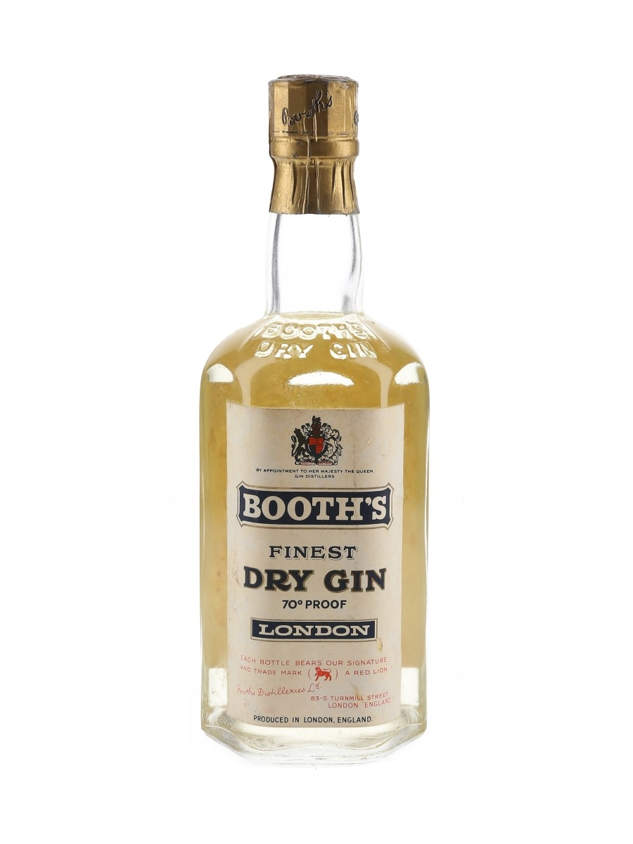 Booth's Finest Dry Gin Bottled 1960 37.5cl / 40%