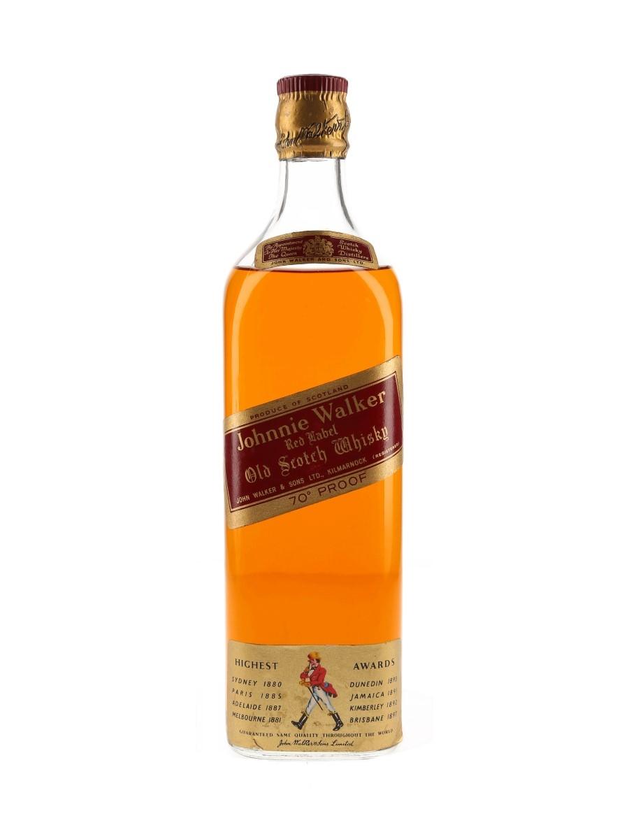 Johnnie Walker Red Label Bottled 1960s 75cl / 40%
