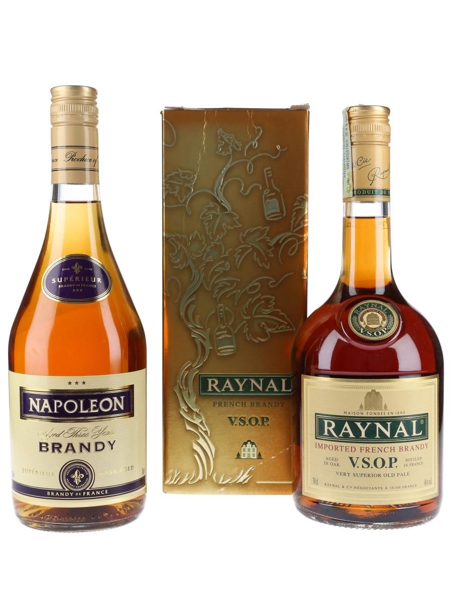 Napoleon 3 Star & Raynal VSOP Brandy  2 x 70cl