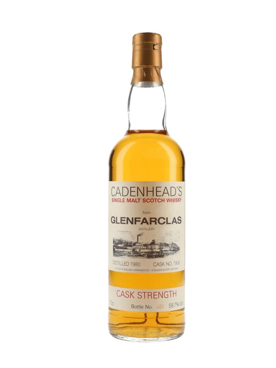 Glenfarclas 1980 Cask Strength Cadenhead's - White Label 70cl / 58.7%