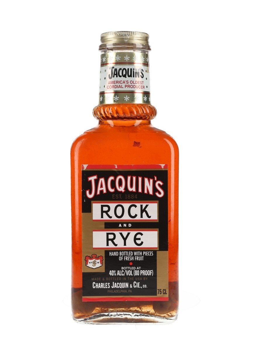 Jacquin's Rock And Rye Bottled 1980s 75cl / 40%
