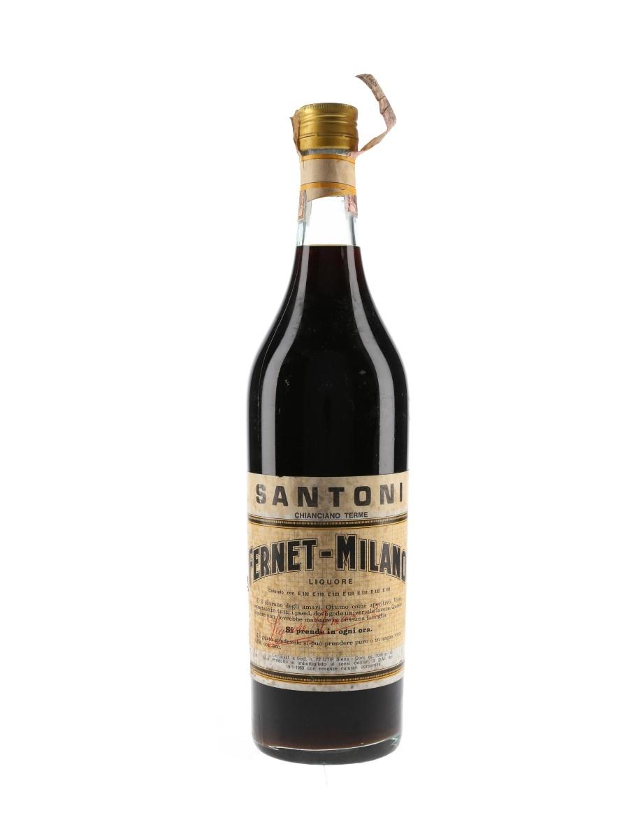 Santoni Fernet Milano Bottled 1960s 100cl / 40%