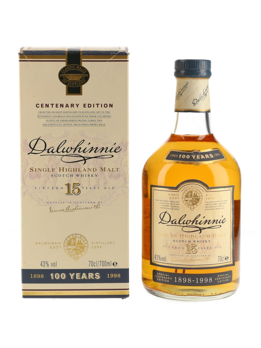 Dalwhinnie 15 Year Old Centenary Edition Bottled 1998 70cl / 43%