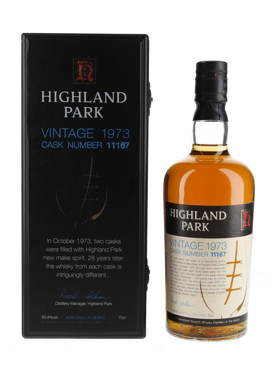 Highland Park 1973 Sherry Cask No. 11167 28 Year Old 70cl / 50.4%