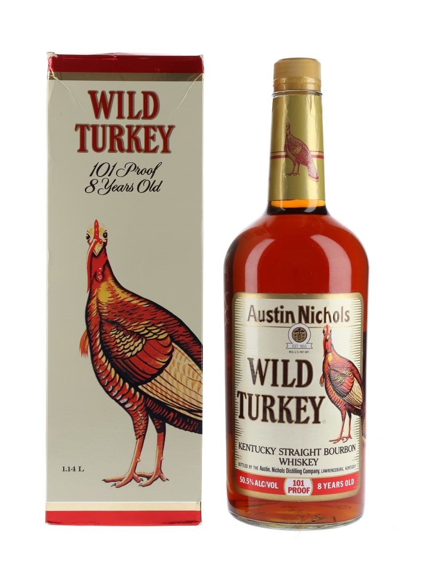 Wild Turkey 8 Year Old 101 Proof Bottled 1990s 114cl / 50.5%
