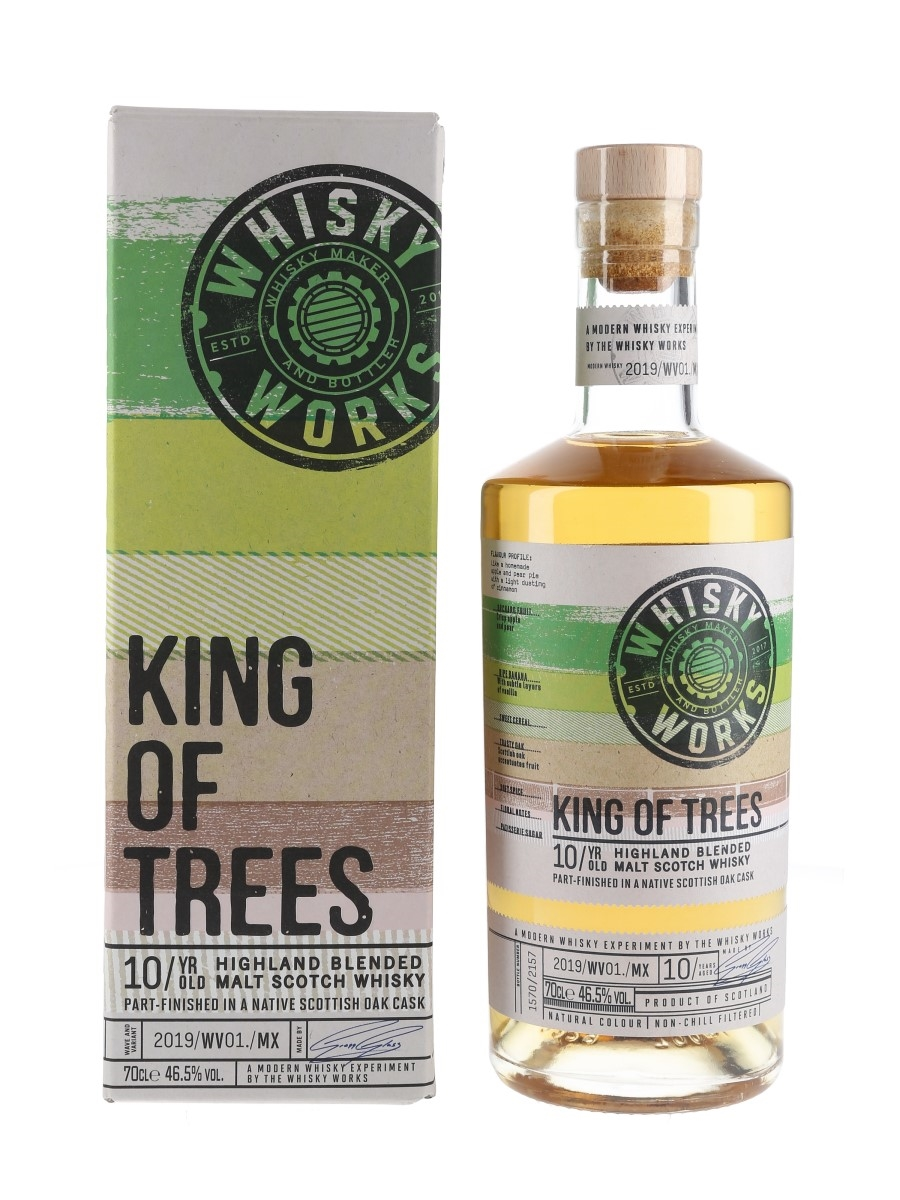 Whisky Works King Of Trees 10 Year Old Native Scottish Oak Finish 70cl / 46.5%