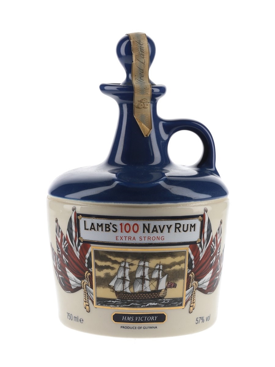 Lamb's 100 Navy Rum HMS Victory Bottled 1980s - Ceramic Decanter 75cl / 57%