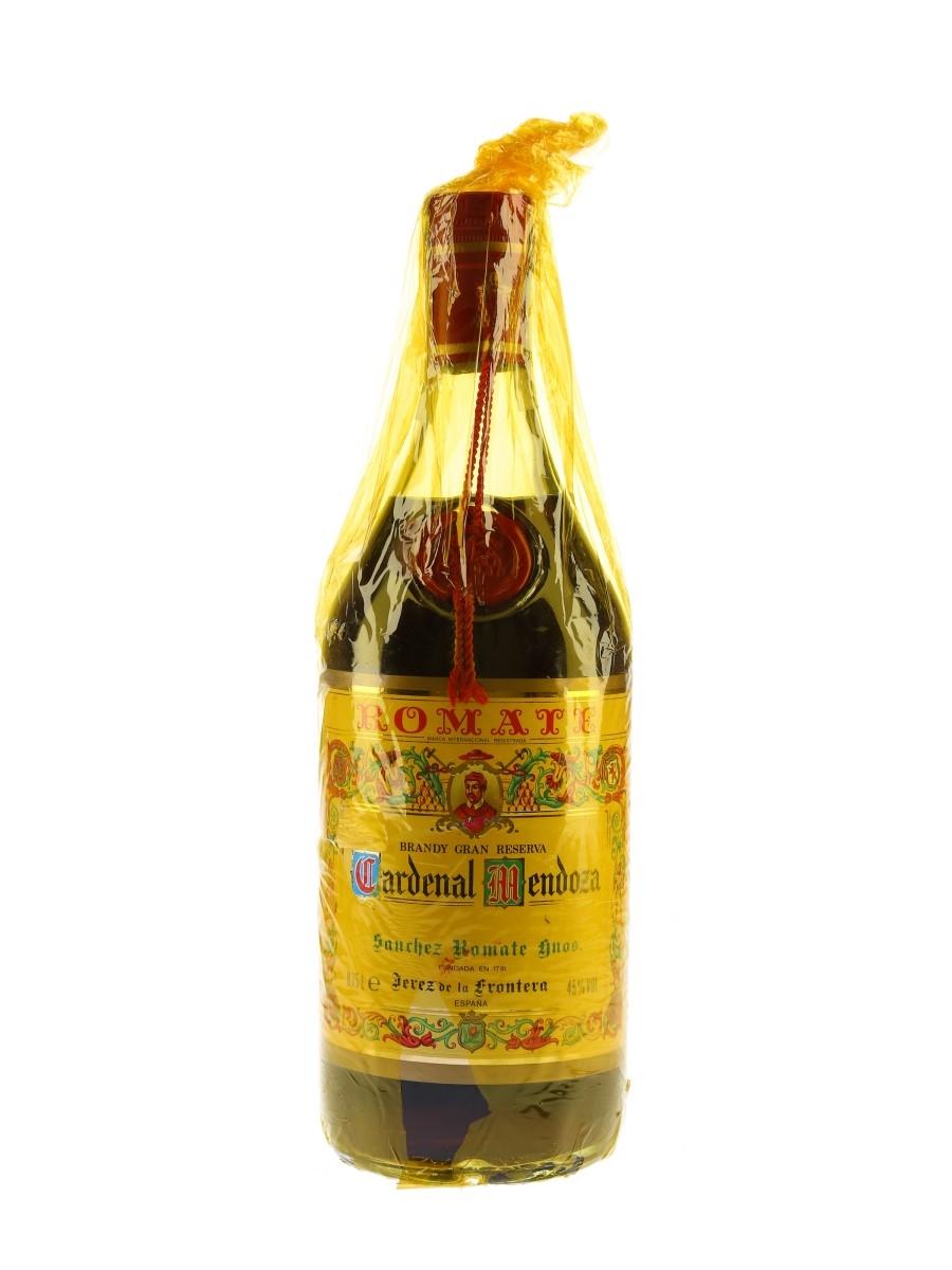 Cardenal Mendoza Brandy De Jerez Bottled 1970s - Sanchez Romate 75cl / 45%