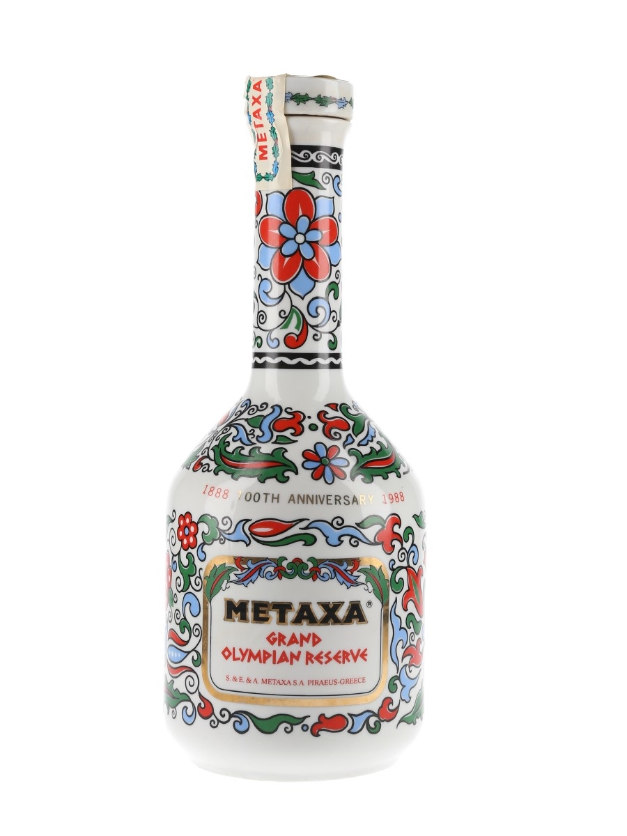 Metaxa Grand Olympian Reserve Bottled 1988 - 100th Anniversary Ceramic Decanter 70cl / 40%