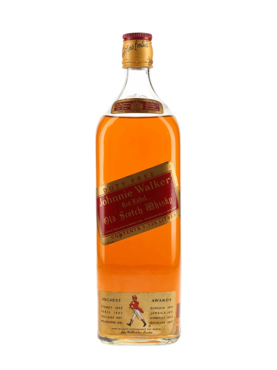 Johnnie Walker Red Label Bottled 1970s - Duty Free Stores 112.5cl