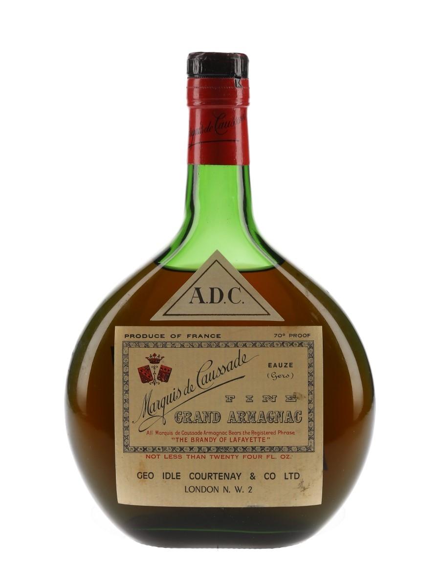 Marquis De Caussade Armagnac ADC Bottled 1960s - 1970s 70cl / 40%