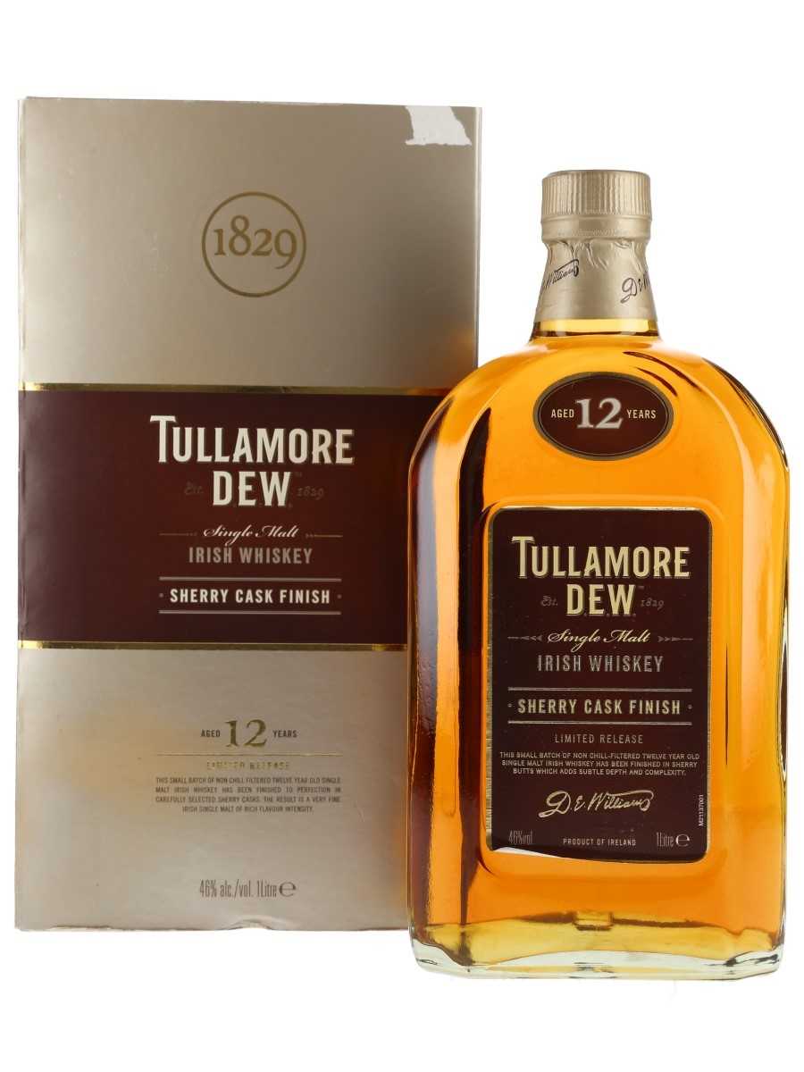 Tullamore Dew 12 Year Old Sherry Cask Finish 100cl / 46%