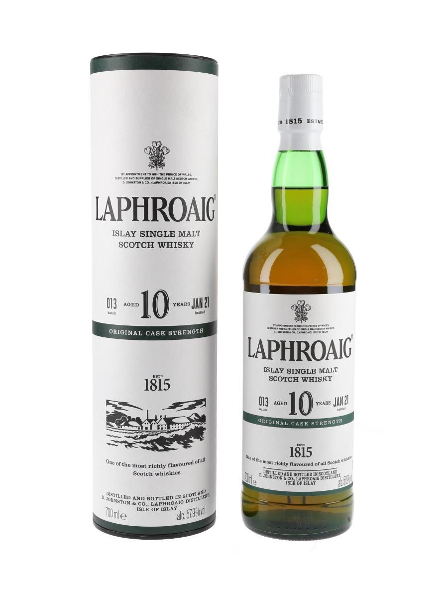 Laphroaig 10 Year Old Original Cask Strength Bottled 2021 - Batch 013 70cl / 57.9%