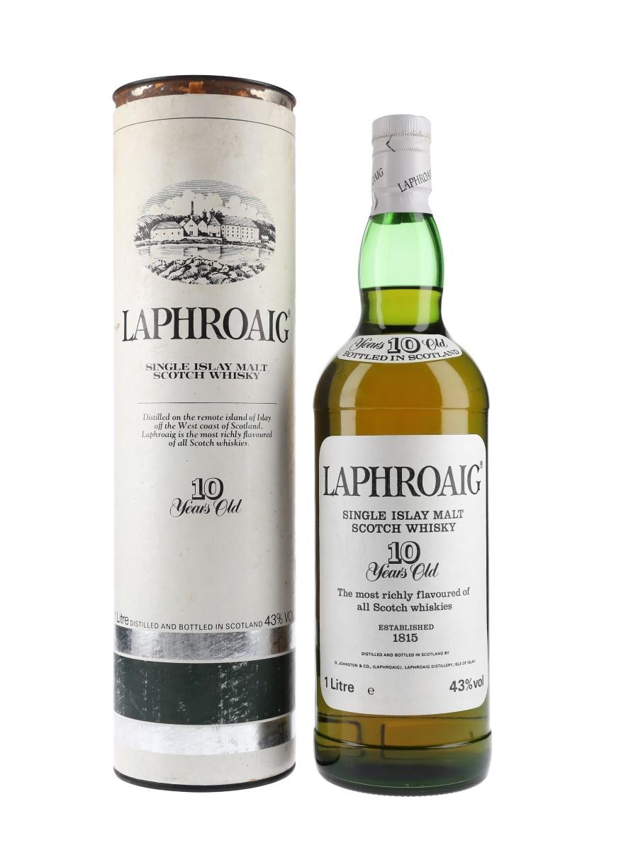 Laphroaig 10 Year Old Bottled 1980s-1990s - Pre Royal Warrant 100cl / 43%