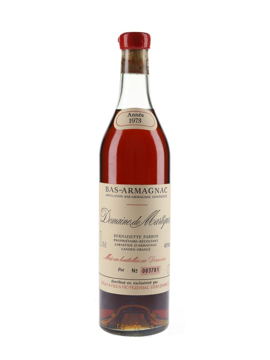 Domaine De Martiques 1973 Bas-Armagnac Bottled 1983 70cl / 48%