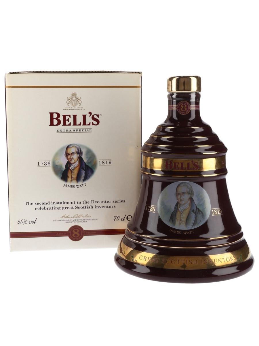 Bell's Christmas 2002 Ceramic Decanter James Watt 70cl / 40%