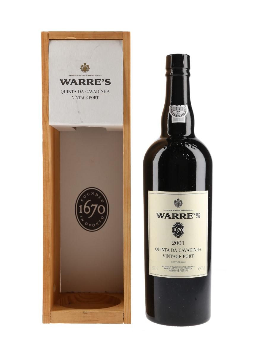 Warre's Quinta Da Cavadinha 2001 Vintage Port Bottled 2003 75cl / 20%