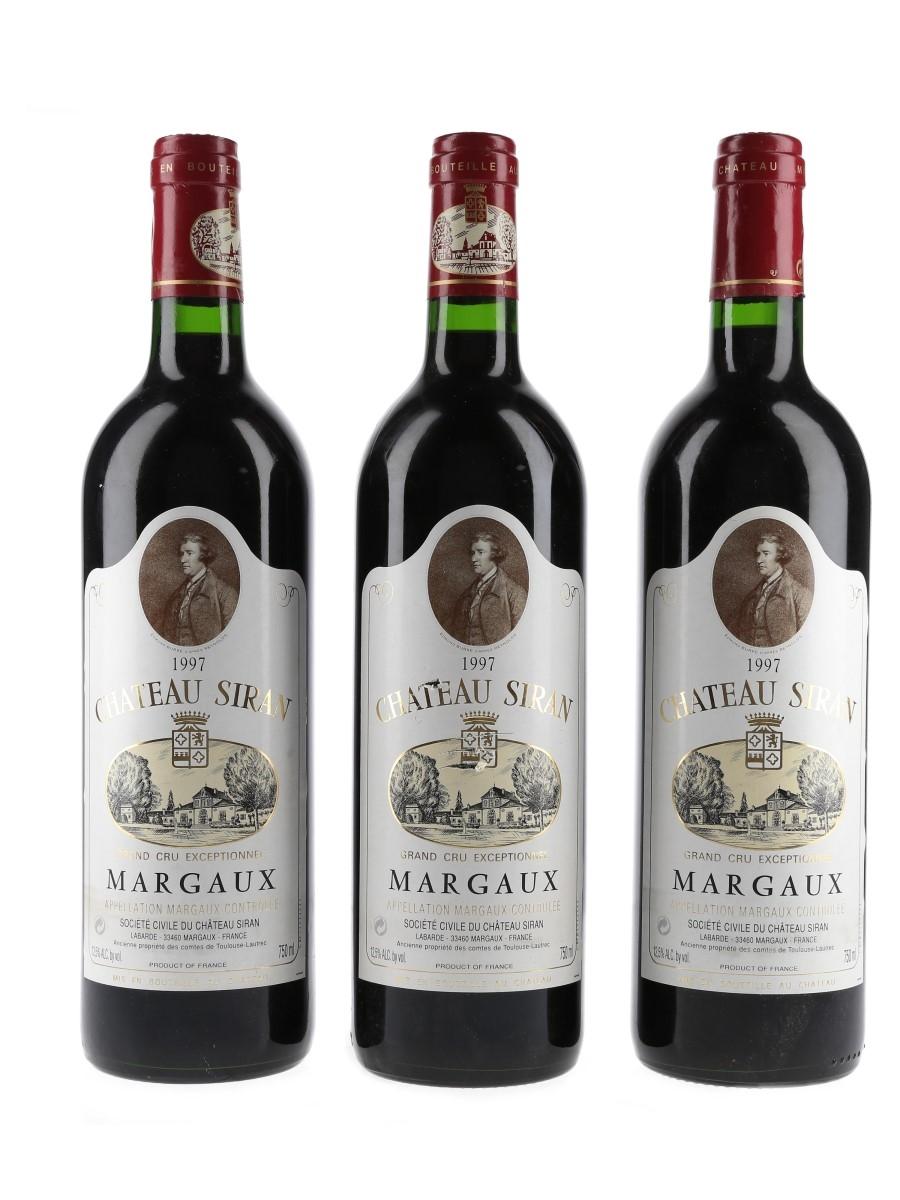 Chateau Siran 1997 Margaux Grand Cru Exceptionnel 3 x 75cl / 12.5%