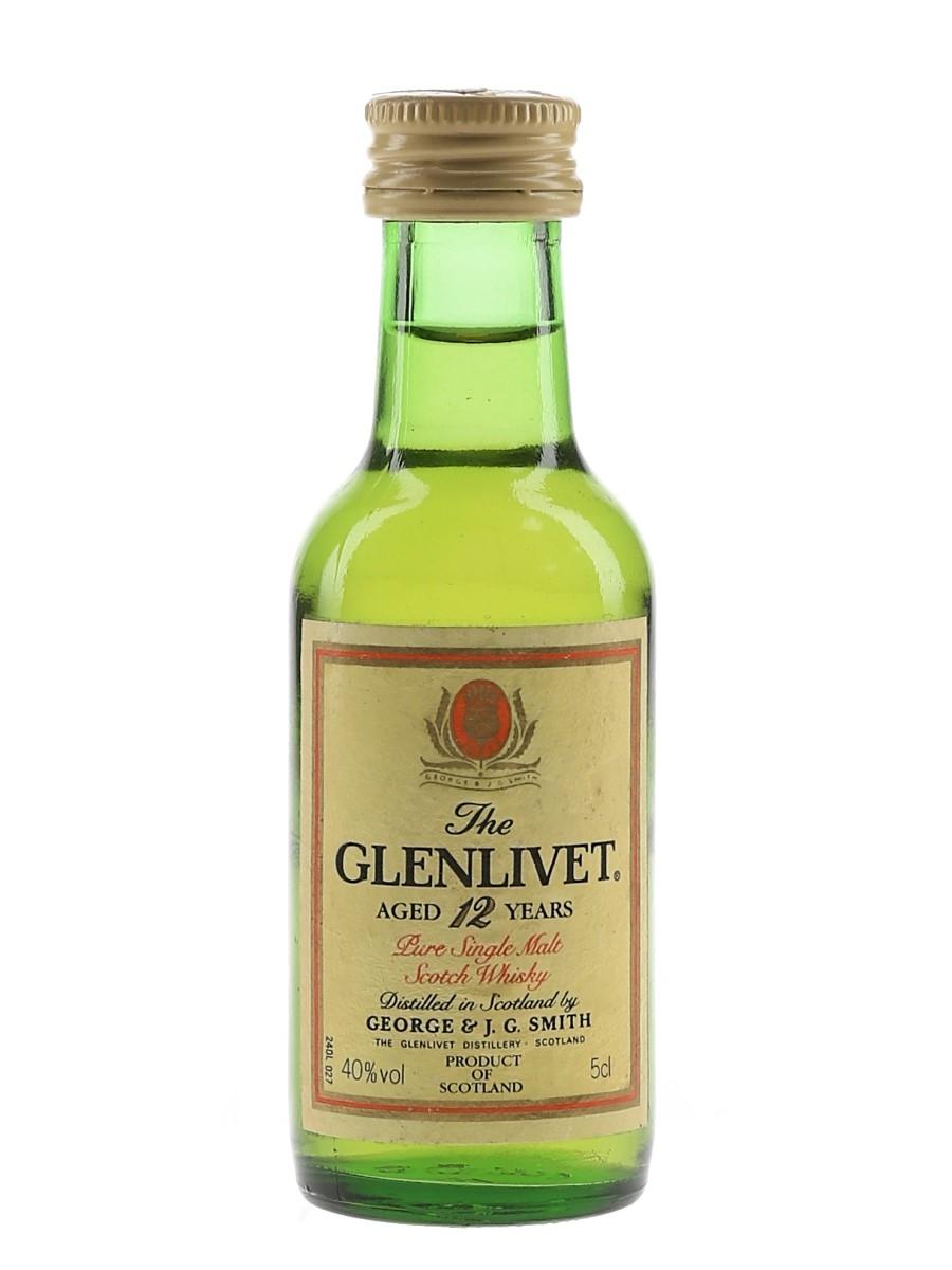 Glenlivet 12 Year Old Bottled 1970s 5cl / 40%