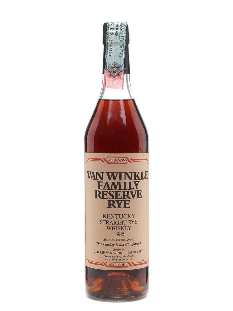 Van Winkle 1985 Family Reserve Rye  70cl / 50%