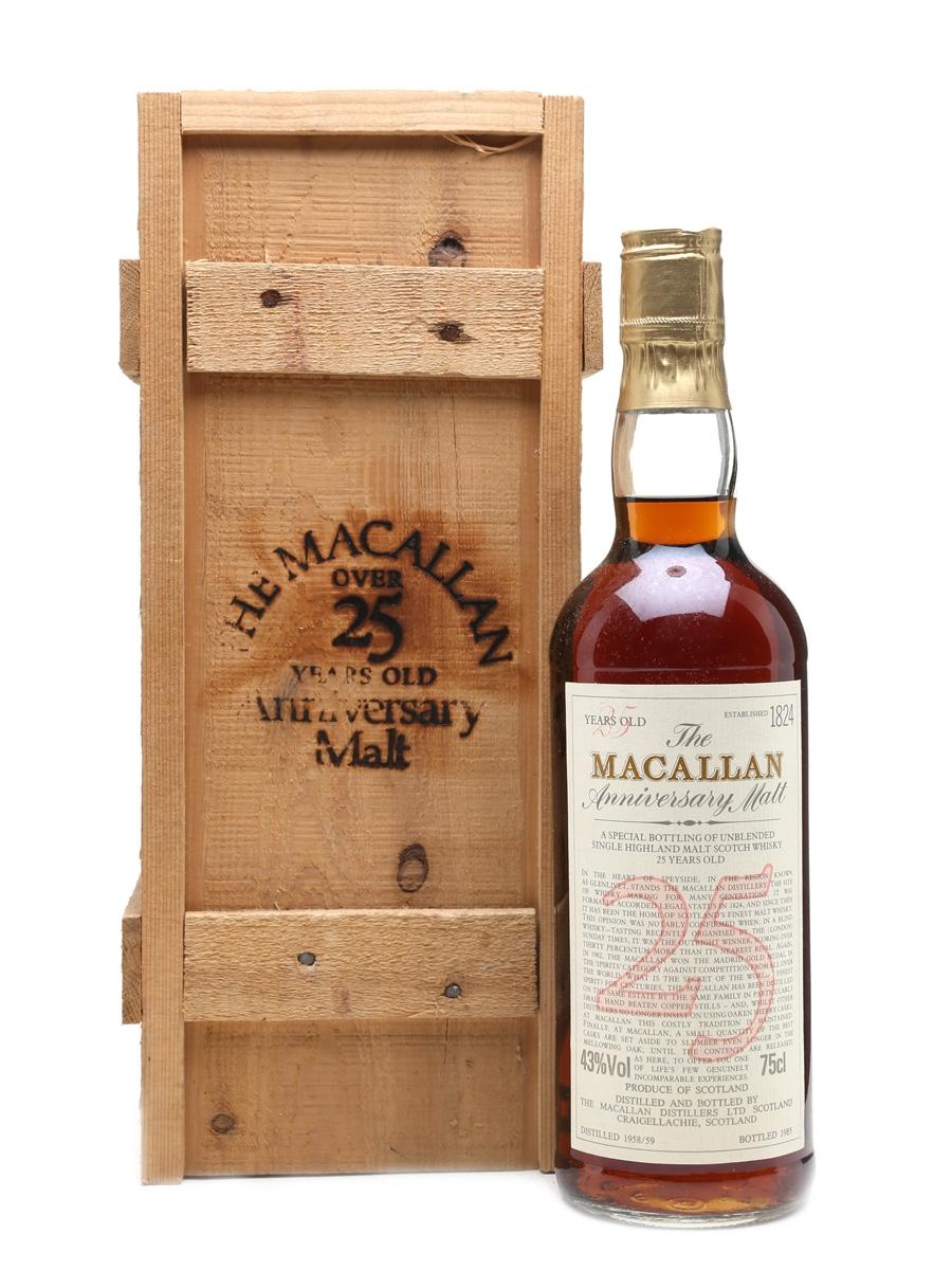 Macallan 1958-1959 Anniversary Malt 25 Year Old 75cl / 43%
