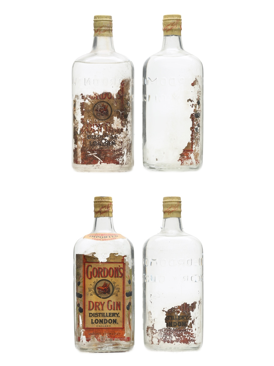Gordon's Dry Gin Spring Cap Bottled 1960s 4 x 75cl / 47.3%