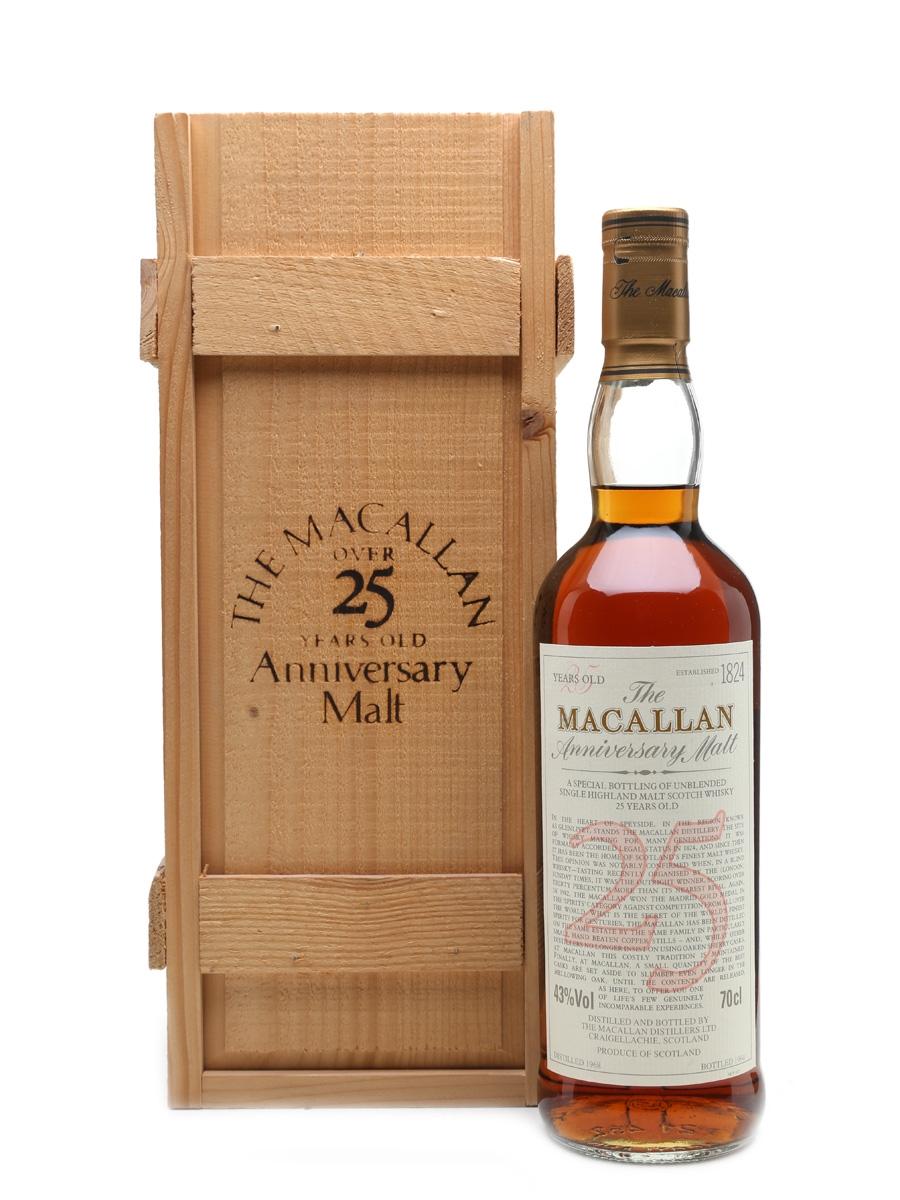 Macallan 1968 Anniversary Malt 25 Year Old 70cl / 43%