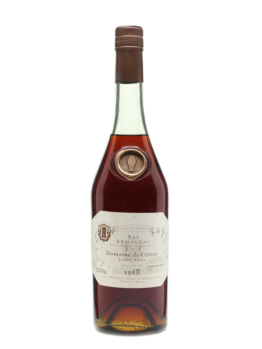 Domaine De Cepede 1948 Bas Armagnac Castel Segur - Bottled 1990 70cl / 42.3%