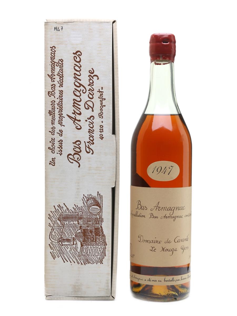 Domaine De Carente 1947 Bas Armagnac Darroze - Bottled 1987 70cl / 45%