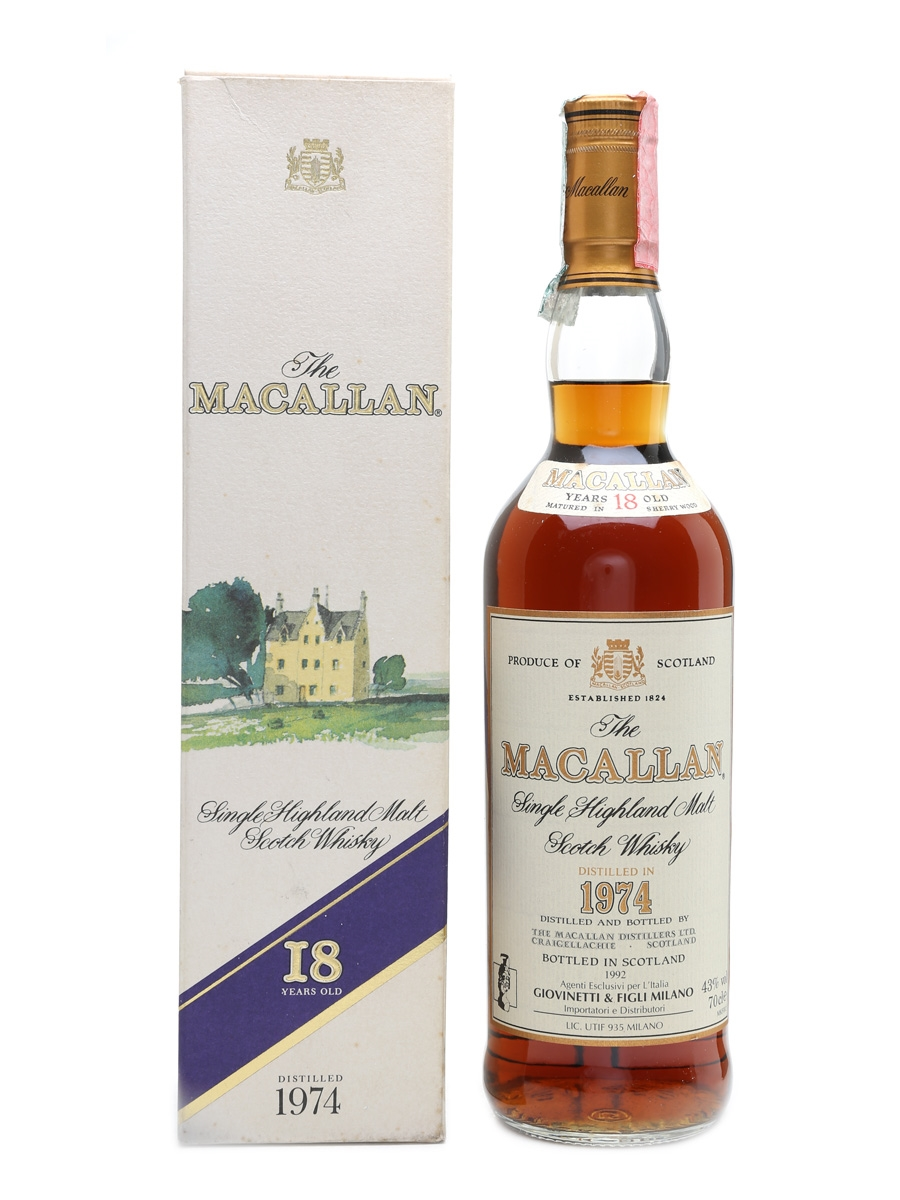 Macallan 1974 - 18 Year Old Bottled 1992 - Giovinetti 70cl / 43%