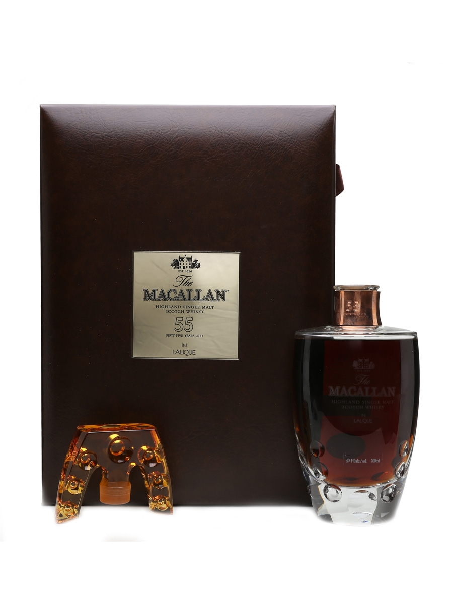 Macallan 55 Year Old Lalique Crystal Decanter 70cl / 40.1%