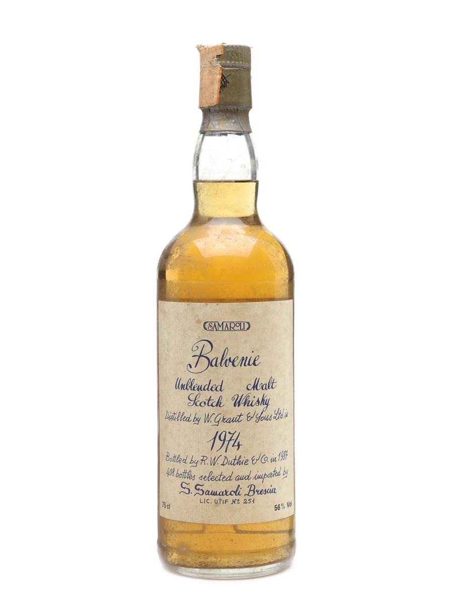 Balvenie 1974 Samaroli Bottled 1987 75cl / 56%