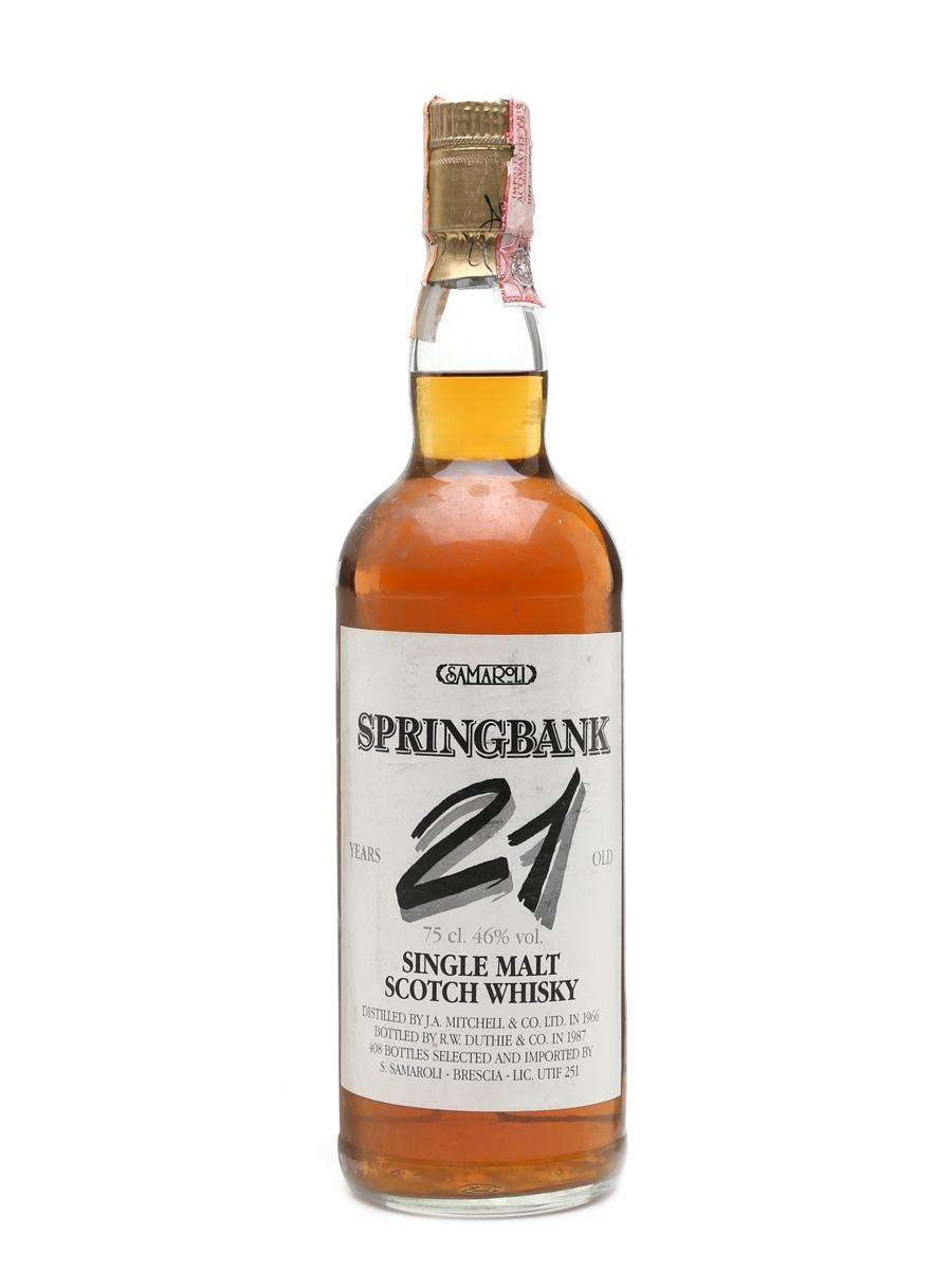 Springbank 1966 Samaroli 21 Year Old 75cl / 46%