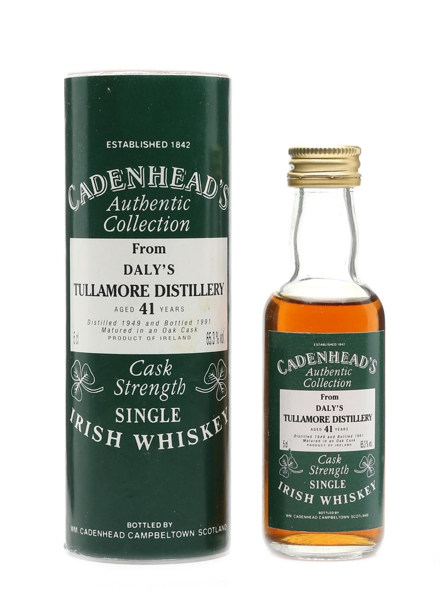 Tullamore 1949 Miniature 41 Year Old - Cadenhead's 5cl / 65.3%