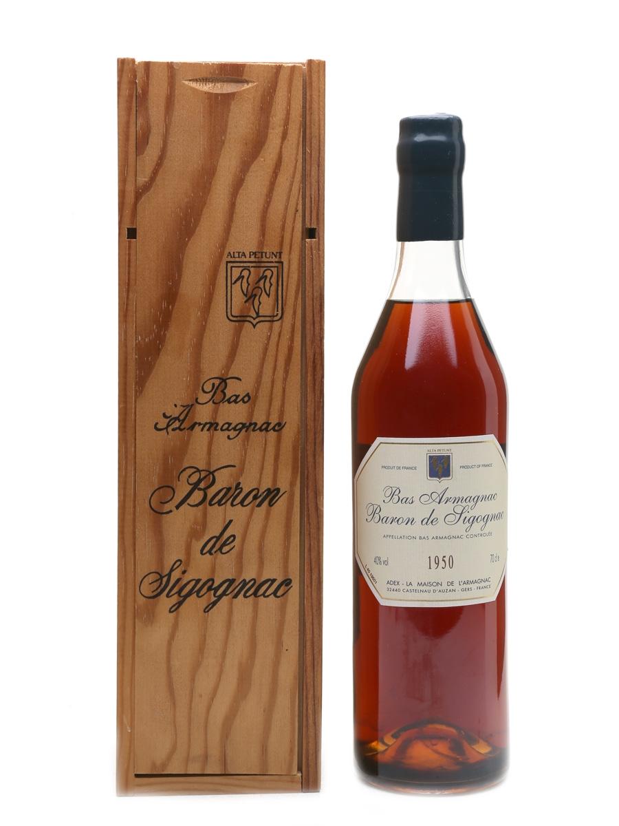 Baron De Sigognac 1950 Armagnac Bottled 2000 70cl / 40%