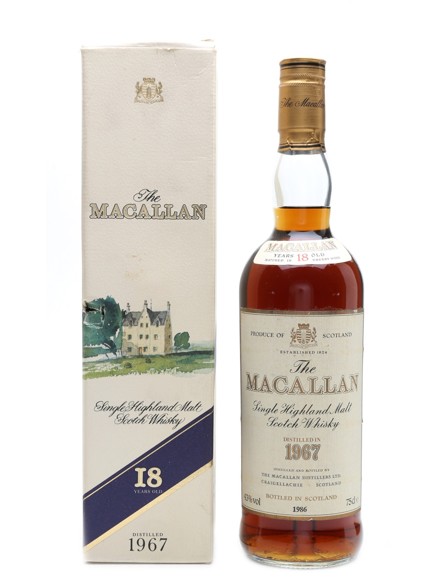 Macallan 1967 18 Year Old 75cl / 43%